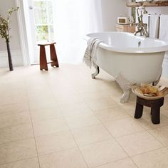 Karndean Cara Knight Tile vinyl flooring is perfect if you're looking to achieve a classical soft marble effect. This gently marbled beige tile has a neutral warm feel. The strip displayed between tiles is design strip. Aquaguard Flooring, Karndean Flooring, Luxury Vinyl Tile Flooring, Linoleum Flooring, Vinyl Tiles, Bedroom Flooring, Flooring Options, Floors, Karndean Knight Tile