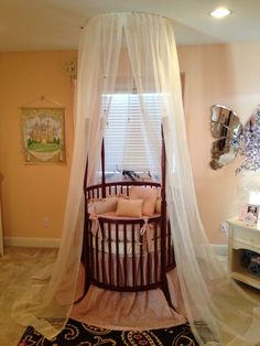 Round Baby Cribs For Sale | Empire Round Crib , Shown In Silver | Nursery  Ideas | Pinterest | Round Cribs, Round Baby Cribs And Baby Crib