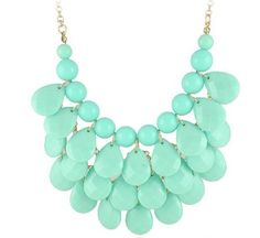 Turquoise 3 row teardrop Statement Jewelry, Chunky Necklace, Bubble Necklace wiipujewelry,http://www.amazon.com/dp/B00ALSYZFM/ref=cm_sw_r_pi_dp_q7z9sb0YTKBR7V76