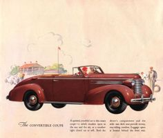 1937 Oldsmobile Six Convertible Coupe Vintage Advertisements, Vintage Ads, Car Brochure, Car Illustration, Car Engine, Illustrations Posters, Convertible, Antique Cars, How To Memorize Things