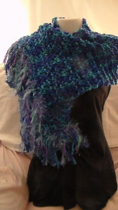 A different way to wear this Scarf - They will all for sale at the Hand Made Market