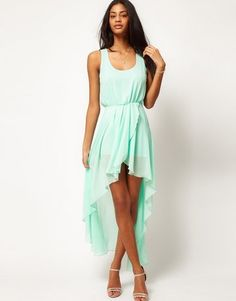 - True to size  - Lined  - Runs small ( size up when purchasing)  - Mint Green  - Chiffon