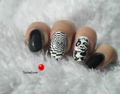 manichiura cu oja alba si oja neagra nail art  flormar full color Nailed It, Kung Fu Panda, Nail Art, Rings For Men, Nails, Alba, Color, Beauty, Finger Nails