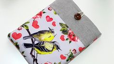 "New iPad Mini 3 case, Nexus 7 Case, Kobo mini, Kindle, iPad Mini Case, iPad Mini Cover Case or Custom 6-8"" tablet sleeve - Cute Birds by RCRAFTSS on Etsy"