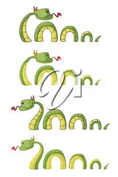 iCLIPART - Clip Art #Illustration of Cartoon #Snakes