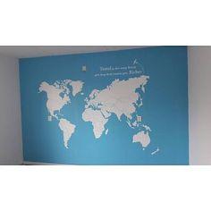 Fotobehang Wereldkaart op maat - 3.60 x2.40