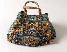"""carpet bag """"for ever""""  Designer Tiger-Dragon  wool"""