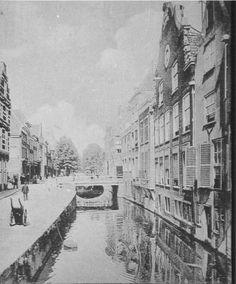 Delft, Wijnhaven v.a. 1900