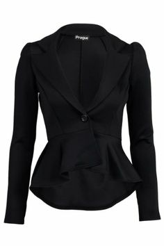 51B New Womens Fitted Dip Hem Peplum Style Ladies Button Blazer Jacket  My1stWish     Suggested price:	£18.99  Price:	£8.55 - £17.99