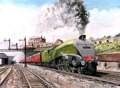 Cooperline: A portfolio of the transport art and photography of W. Cooper and the artwork of D. Steam Art, Flying Scotsman, Nostalgic Art, Train Art, Train Pictures, Engineering Technology, Train Tickets, Commercial Vehicle, Steam Locomotive