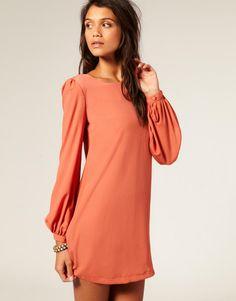 ASOS | ASOS Shift Dress with Bell Sleeve at ASOS