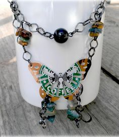 Starbucks upcycled necklace! LNS - this reminded me of you :)