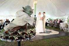 Ultimate geeky wedding. And Yoda was master of ceremonies, of course.