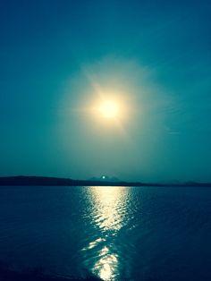 Por do sol, lagoa de Imboassica - Macaé/RJ