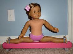 Gymnastics Balance Beam for McKenna American Girl 18 Doll. $23.00, via Etsy.