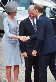 Prince William met Belgium's Queen Mathilde and King Philippe in Liege this morning