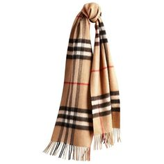 Burberry Classic Cashmere Scarf in Heritage Check ($475) ❤ liked on Polyvore featuring accessories, scarves, burberry, burberry shawl, burberry scarves, cashmere shawl and cashmere scarves