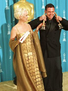 The American Express Dress. Australian Lizzy Gardiner at the 1997 Academy Awards.