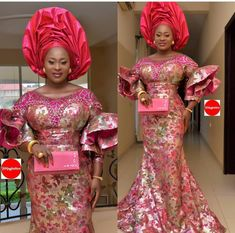 African Inspired Fashion, African Fashion, African Style, Fashion Women, African Lace Dresses, African Dresses For Women, Cord Lace Styles, Lace Skirt And Blouse, Aso Ebi Styles