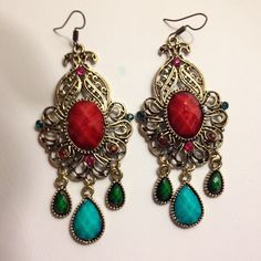 ✨Host pick 10/25/15 Stunning boho style earrings . 3.46in*1.42in. Bohemian style statement earring. Jewelry
