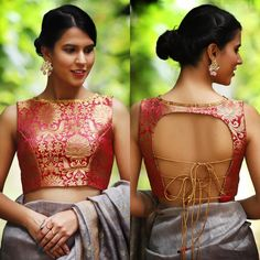 New & Latest boat neck blouse designs 2019 - New Blouse Designs Choli Designs, Brocade Blouse Designs, Saree Jacket Designs, Brocade Blouses, Designer Blouse Patterns, Blouse Designs Lehenga, Latest Saree Blouse Designs, Brocade Saree, Blouse Back Neck Designs