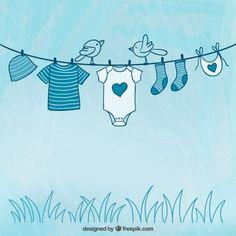 vêtements pour bébés Sketchy vecteur libre