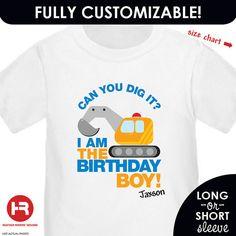 Construction Digger Birthday Shirt or by HeatherRogersDesigns, $16.50