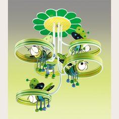 И снова новинка 2015! ДЕТСКАЯ ЛЮСТРА ODEON LIGHT 2805/5C - зеленое чудо для детской комнаты!