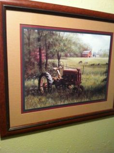Western Country Old Tractor Cows Barn Home Interior Picture Home Deco EUC Home Interiors And Gifts, Barn, Tractor, Pure Products, Wall Art, Country, Antiques, World, Pictures