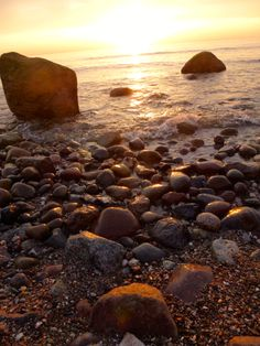 Sonnenuntergang an der Steilküste bei Ahrenshoop      (c) M.Sorge ... Sunset on the Baltic Sea Coast, Germany