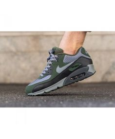 Buy Nike Air Max 90 Essential Carbon Green Grey Mens Shoes Was Now Get a  free pair of socks on orders over