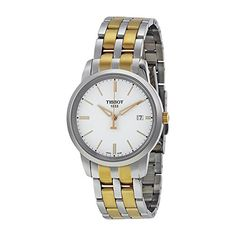 Tissot Women's T-Classic Two-Tone Stainless Steel Watch Dream Watches, Luxury Watches, Watches Online, Stainless Steel Watch, Watches For Men, Wrist Watches, Omega Watch, Bracelet Watch, Classic