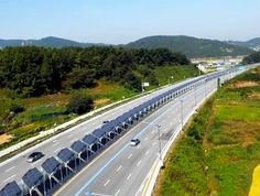 This bike lane in Korea is topped with 20 miles of solar panels