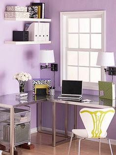 Ideal corner workspace in a guest room