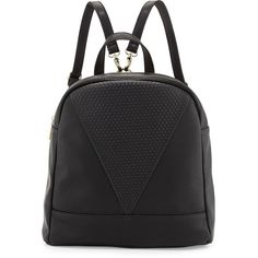 POVERTY FLATS by rian Dot Faux-Leather Backpack ($45) ❤ liked on Polyvore featuring bags, backpacks, accessories, bolsos, black, fake leather backpack, black bag, poverty flats, black backpack and vegan bags