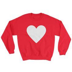 Valentine's Day Sweatshirt Heart Sweatshirt Heart Shape Heart Pullover Graphic Sweatshirt Romantic Sweetheart Valentine Love Simple by 25VintagePlace