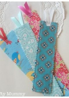 -- Fabric Scrap Bookmarks - great way to use up you scraps from Chadwick Heirlooms! It's FAIRLY EASY!