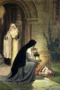 Religiosas encontram um bebê abandonado.