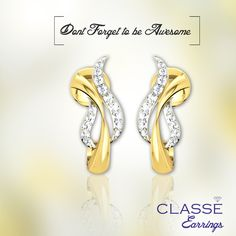 Buy Latest Design Diamond Earrings collection Jewellery online store in India for women. Buy today with the best prices by classe jewels. Diamond Jewelry, Gold Jewelry, Jewelery, Diamond Earrings, Don't Forget, Fashion Jewelry, Awesome, Collection, Shoes