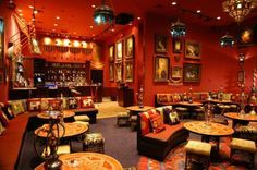 Paymon's Hookah Lounge in Las Vegas, the first Shisha Parlor in America, where you can eat and party in ONE place. Visit us at one of our two locations! Lounge Design, Bar Lounge, Hookah Lounge Decor, Cafe Design, Design Table, Interior Design, Shisha Lounge, Middle Eastern Restaurant, Chill