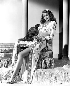 """Rita Hayworth in """"Gilda"""" a 1946 American black-and-white film noir with Hayworth starring in her signature role as the ultimate femme fatale. Old Hollywood Glamour, Golden Age Of Hollywood, Vintage Hollywood, Hollywood Stars, Classic Hollywood, Vintage Havana, Divas, Vintage Beauty, Rita Hayworth Gilda"""