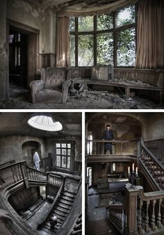 Inside Old Abandoned Mansions | ... these already haunting images captured inside an abandoned mansion