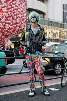 J street. Awesome mask and pants. <3