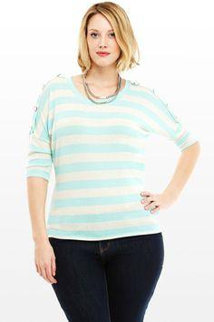 Libby Blue Striped Top