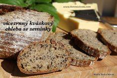 Vícezrnný kváskový chleba se semínky Banana Bread, Good Food, Cooking, Desserts, Fit, Kitchen, Tailgate Desserts, Deserts, Shape