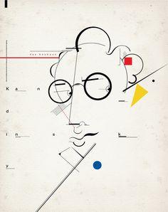 """bauhaus-movement: """"Kandinsky Portrait Bauhaus Movement Modern Art Russian © Santiago Crescimone - bauhaus-movement.com """""""