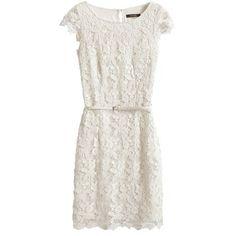 Weißes Kleid mit Häkelspitze ab 149,99 € ♥ Hier kaufen: http://www.stylefru.it/s68368 #romantisch #esprit #guertel