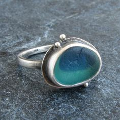 Sea Glass Jewelry Ring English Multi Size 7 Beach Glass Ring