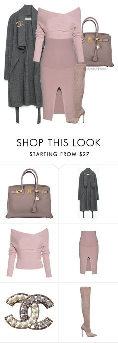 """Untitled #3125"" by stylebydnicole ❤ liked on Polyvore featuring Hermès, Zara, Chanel, Le Silla, women's clothing, women's fashion, women, female, woman and misses"