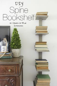 DIY Spine Bookshelf